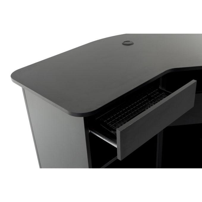 comptoir caisse avec espace dédié pour un ordinateur