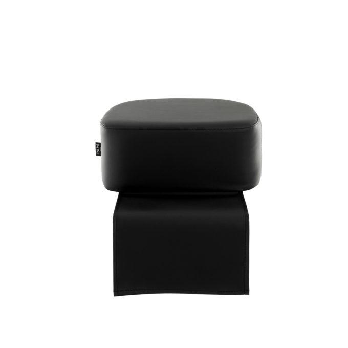 Réhausseur de siège de coiffure pour enfant en mousse épaisse, skai noir