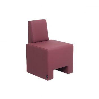fauteuil 1 place d'attente, spécial petit espace couleur mauve