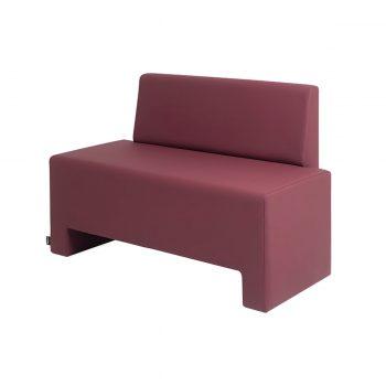 fauteuil attente 2 place avec dossier et banquette rembourrée