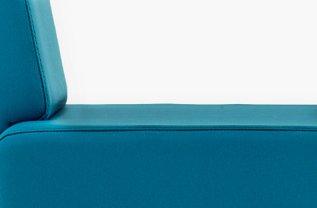 fauteuil en revêtement imitation cuir bleu