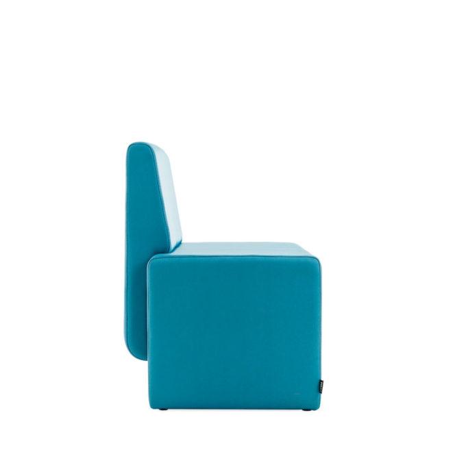 fauteuil attente amur vue profil assise épaisse et profonde