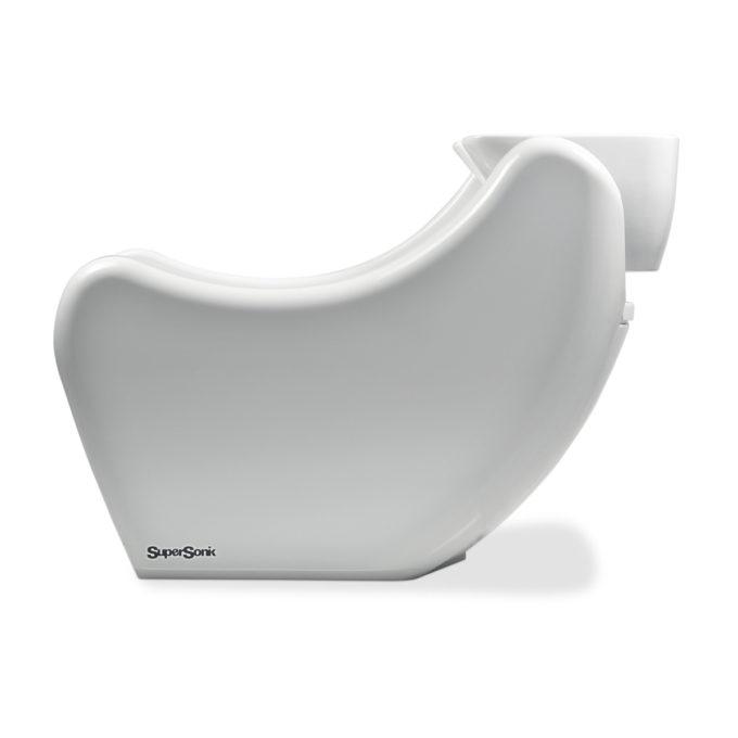 bac à shampoing moderne blanc brillant en fibre de verre