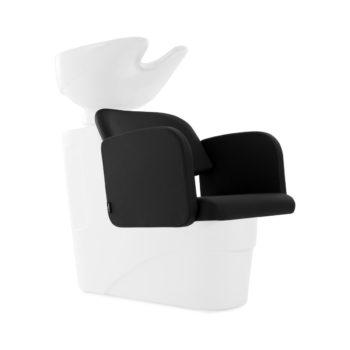 Bac de lavage avec structure et vasque en noir ou blanc et assise confortable
