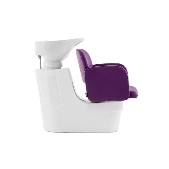 bac de lavage blanc et violet