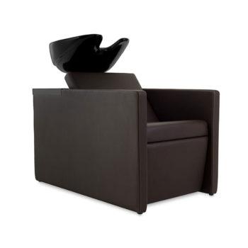 bac à shampoing évier noir moderne et fonctionnel