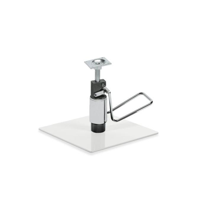 base carré métal brillant avec pompe hydraulique pour siège de coiffure