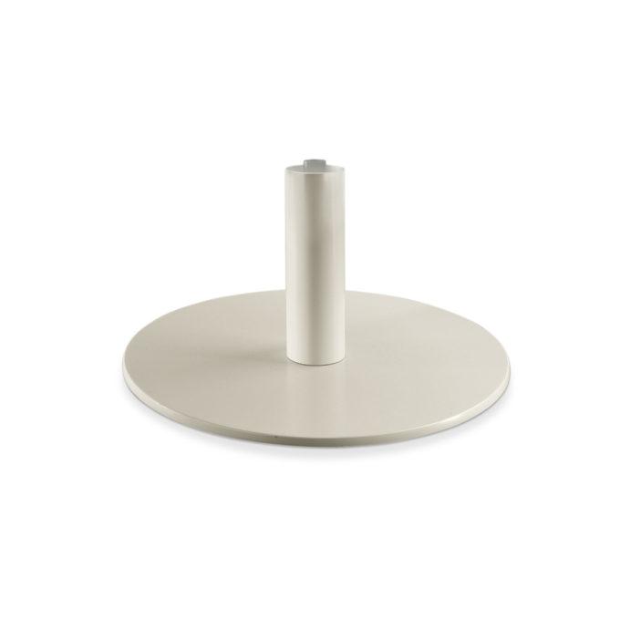 Pied de fauteuil de coiffure rond en aluminium verni blanc extra plat