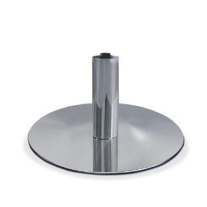 Base de fauteuil de coiffure en métal brillant ronde et plate