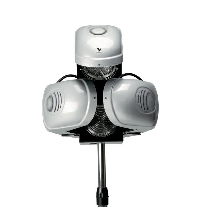 casque chauffant avec bras rétractables, 4 vitesses, chauffe par infrarouge
