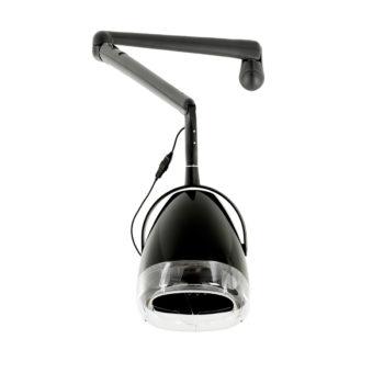 casque de coiffure chauffant, avec bras articulé, minuterie 60 secondes, 2 vitesses, noir