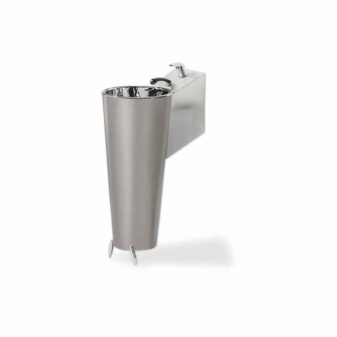 cone porte bassin pour laboratoire de coiffure en métal