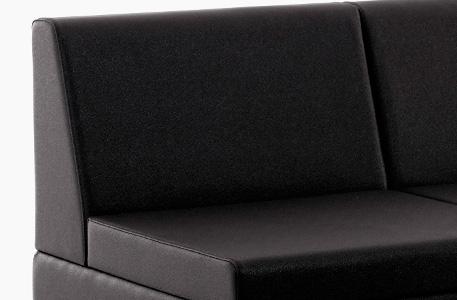 Elix, assise et dossier fauteuil attente coiffure