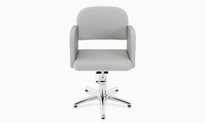 fauteuil de coiffage gris