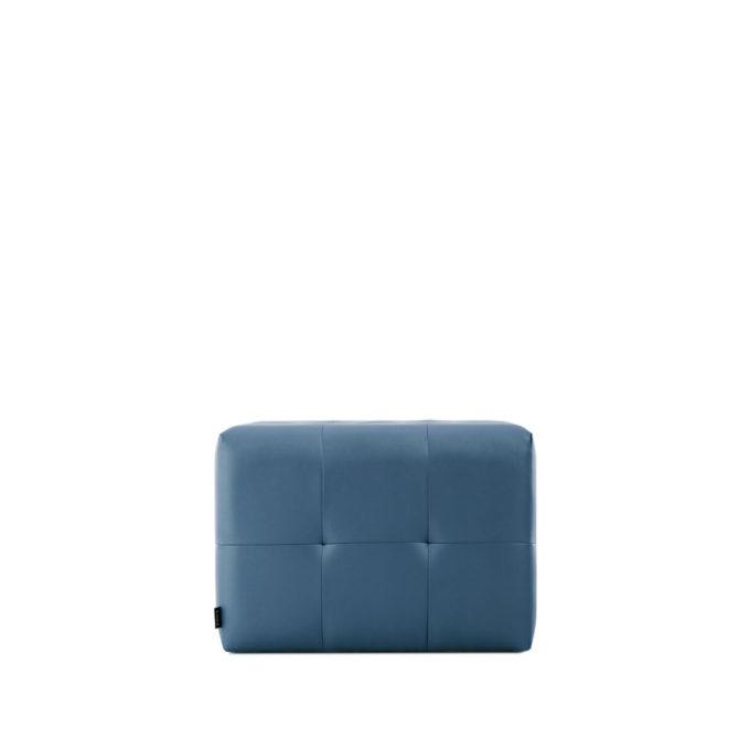 siège d'attente bleu effet matelassé