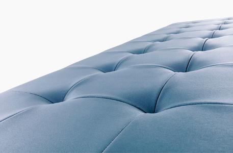 finition capitonnée fauteuil attente soft mobicoiff