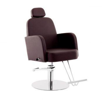 fauteuil de barbier avec base ronde, léger et économique