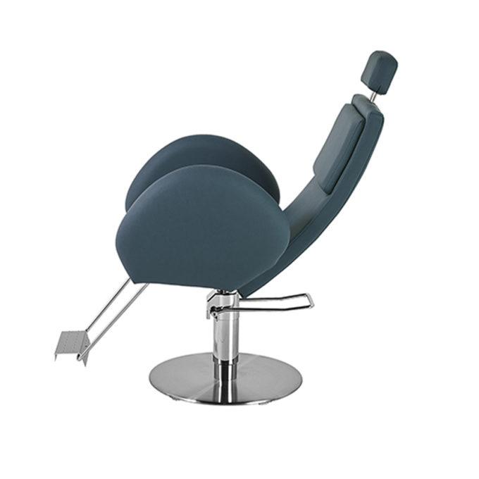 fauteuil barbier bleu