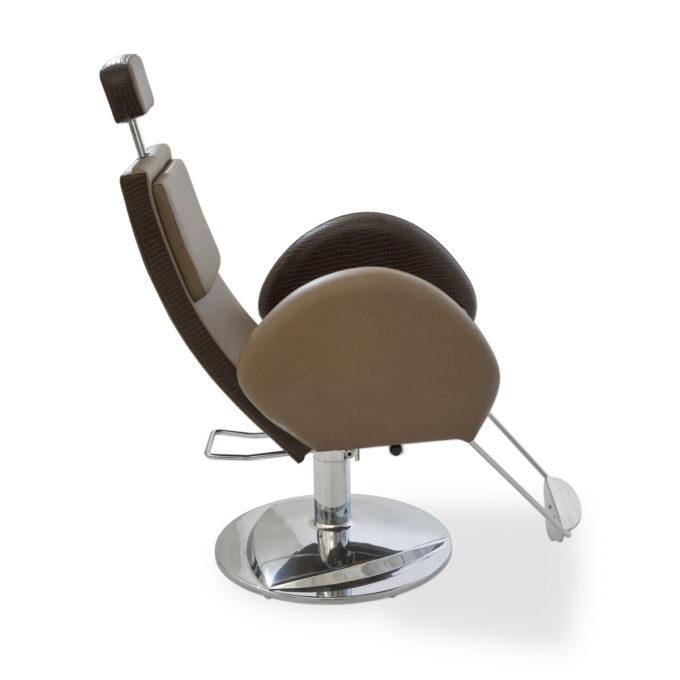 siège de barber shop style vintage marron