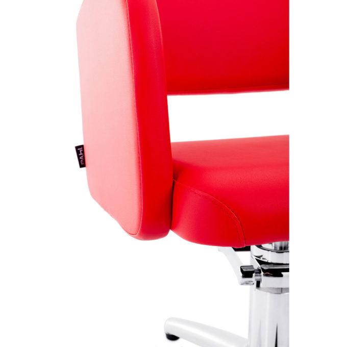 fauteuil de coiffeur rouge