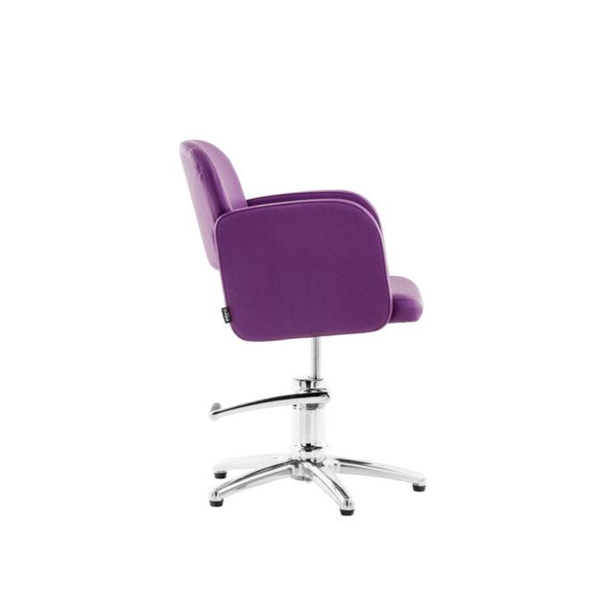 fauteuil coiffure pied étoile couleur violet elma