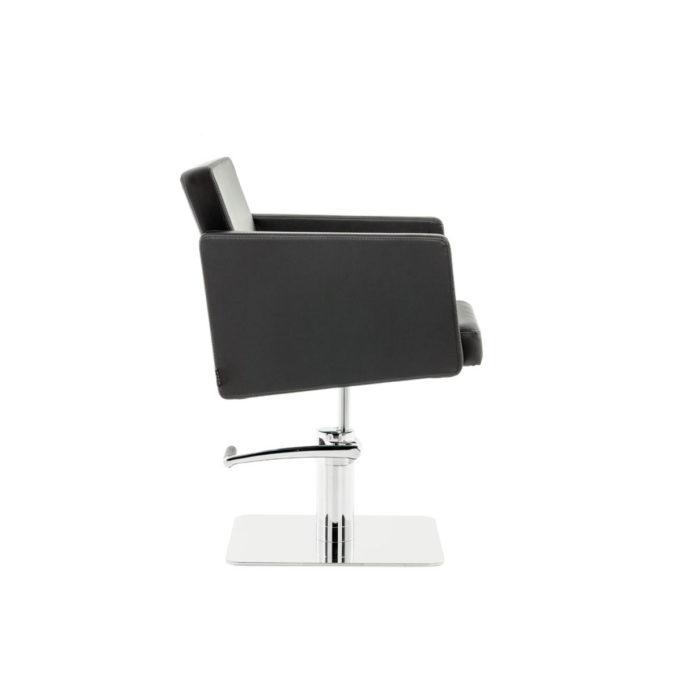 fauteuil de coiffage en similicuir noir