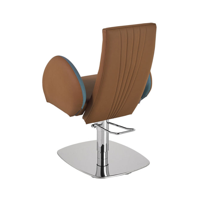 fauteuil de coiffure moderne et confortable marron