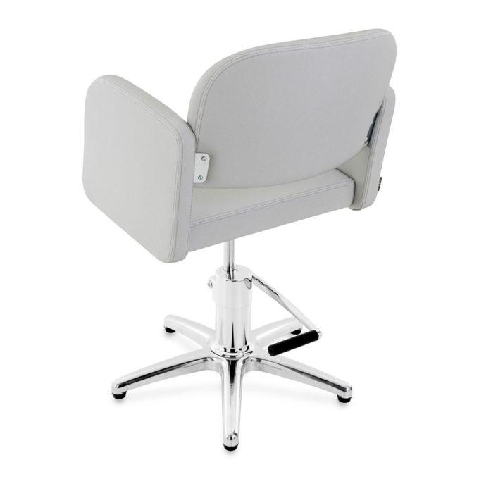 fauteuil de coiffure gris pied étoile
