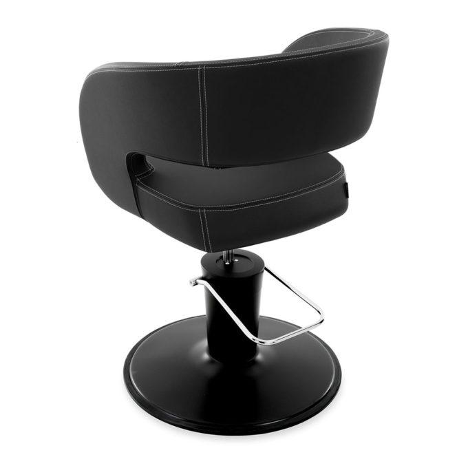 fauteuil élégant noir avec pied en métal noir mate