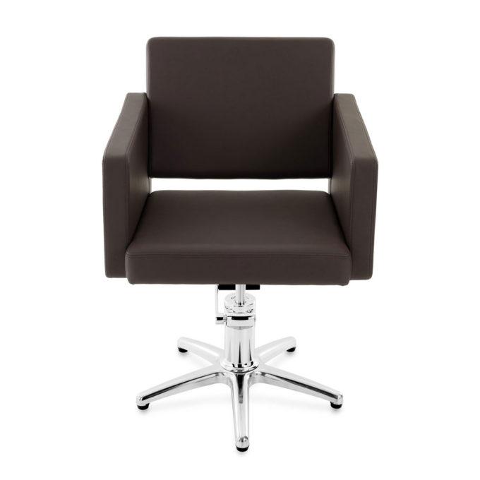 fauteuil de coiffeur marron chocolat avec pied étoile
