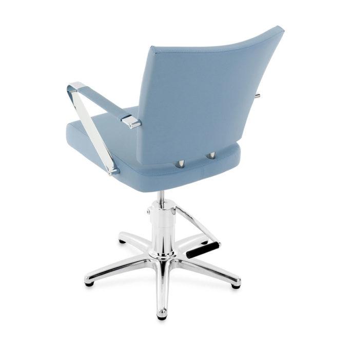 fauteuil de coiffure mitas bleu clair avec pied étoile