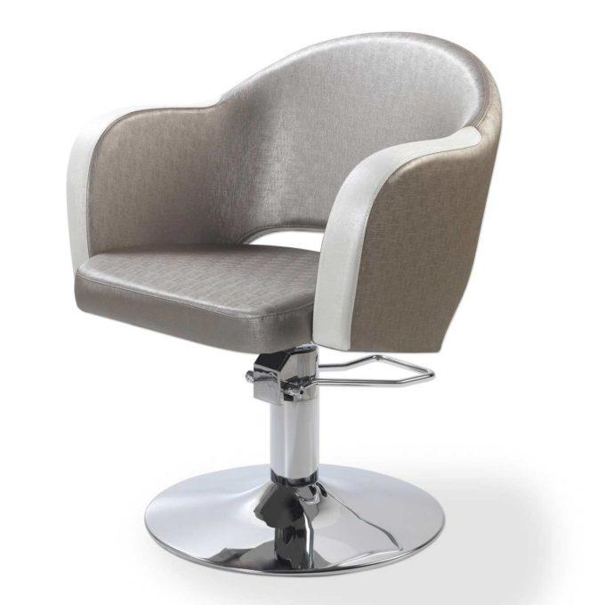 fauteuil de coiffure style anglais couleurs nacrés