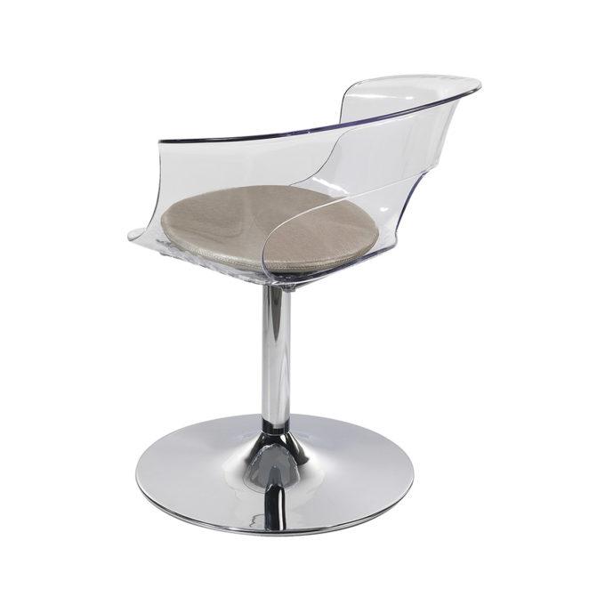 fauteuil de coiffage en plexiglas