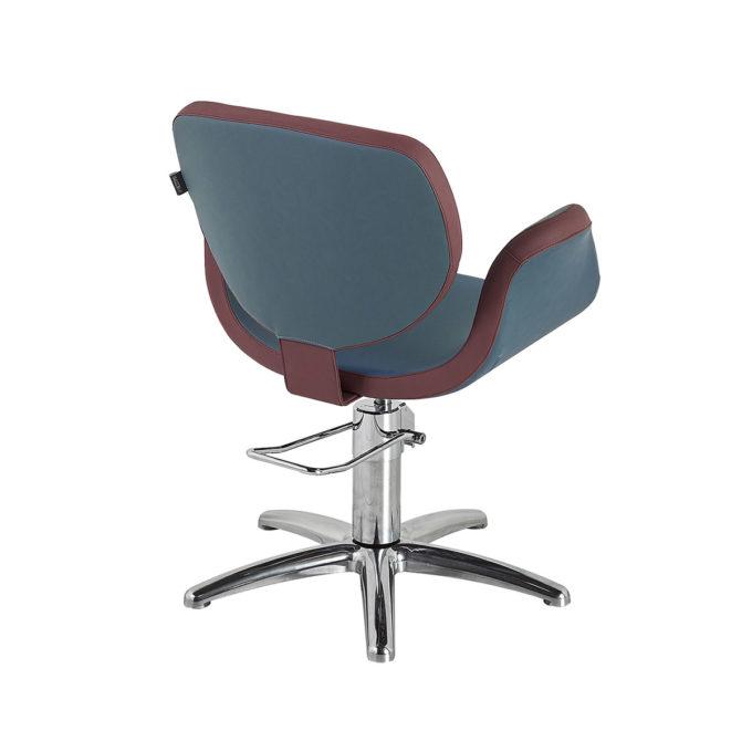 fauteuil de coiffage pied étoile bleu et rouge