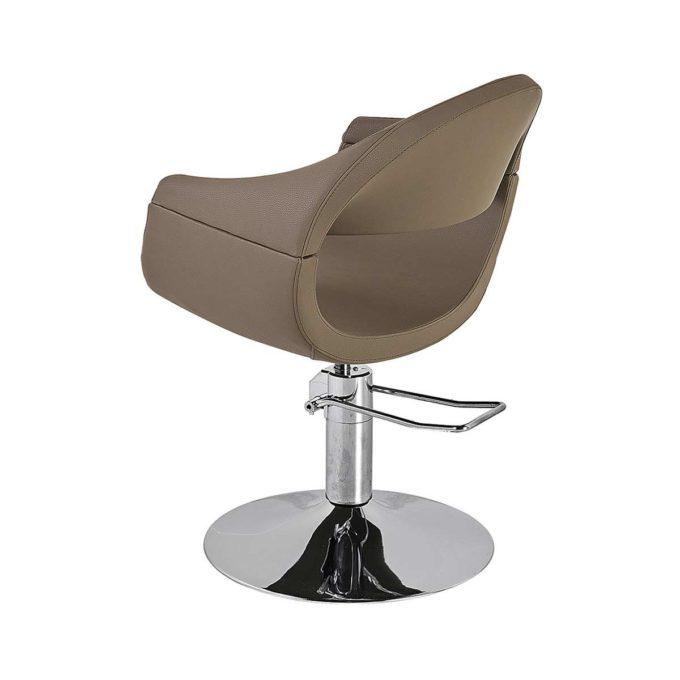 fauteuil de coiffure marron avec ouverture dans le dos
