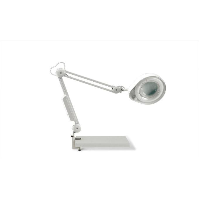 Lampe de manucure et esthétique de table chauffante avec loupe, structure articulée