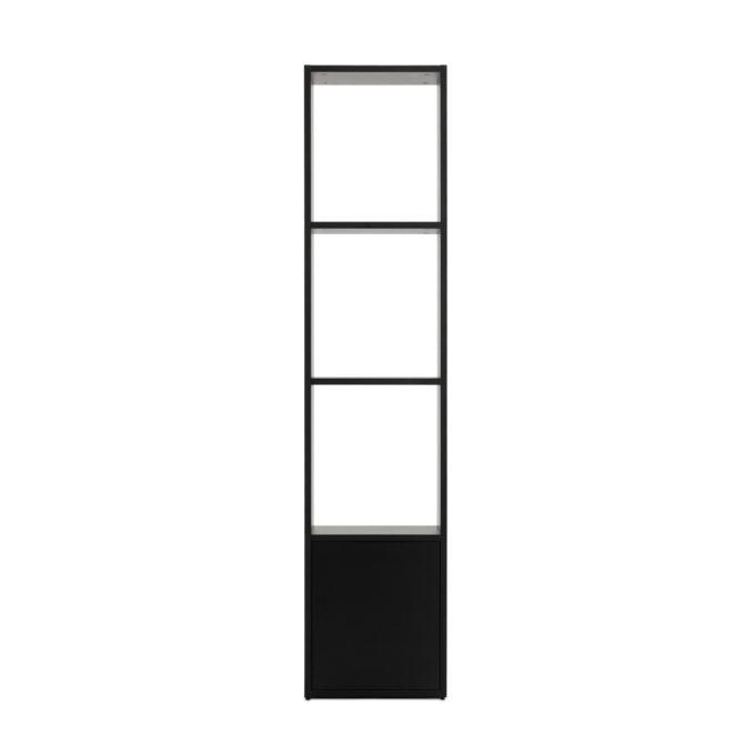 Etagère en bois stratifié noir avec trois niveaux