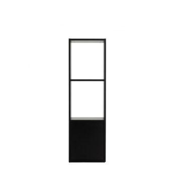 Etagère en bois stratifié noir avec 2 niveaux