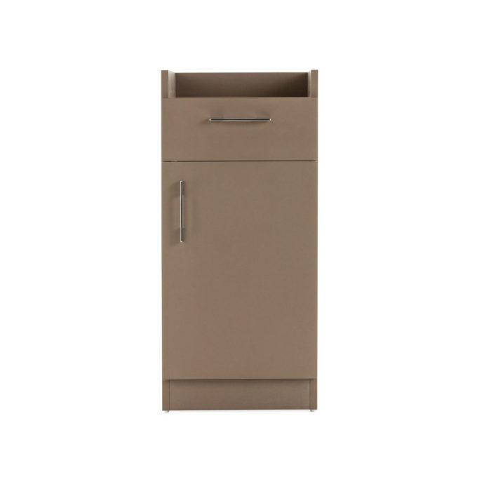 rangement tiroir et placard couleur taupe