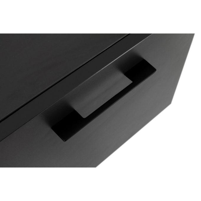 finitions noires poigné tiroir