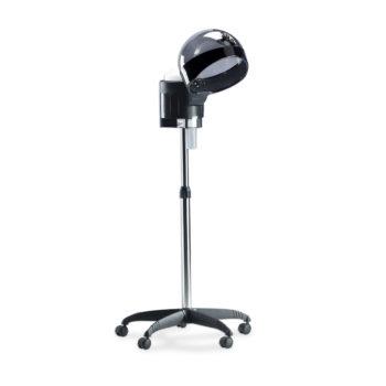 vaporisateur de coiffure sur pied à roulettes avec chaudière en acier inoxydable