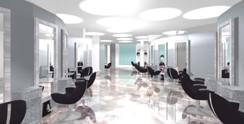 Savoir faire dans le mobilier de coiffure et l 39 agencement de salon de coiffure mobicoiff for Conception salon 3d