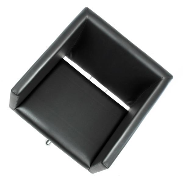 fauteuil de coiffure forme carré noir