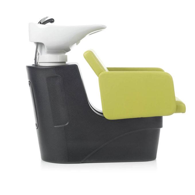 bac à shampoing vert anis profil