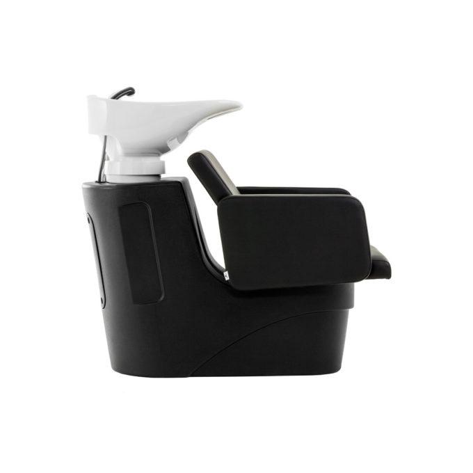 bac à shampoing noir profil