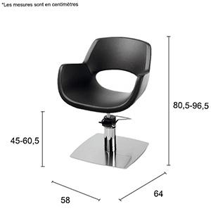 dimensions fauteuil noa