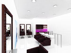 Réalisation de plan en 3d et de vues en 3d de votre local - Agencement salon de coiffure