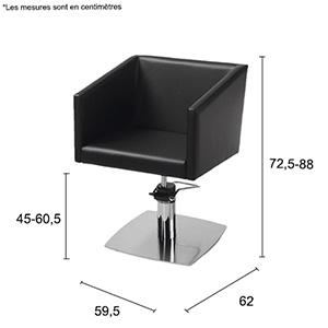 dimensions fauteuil de coiffure lirone
