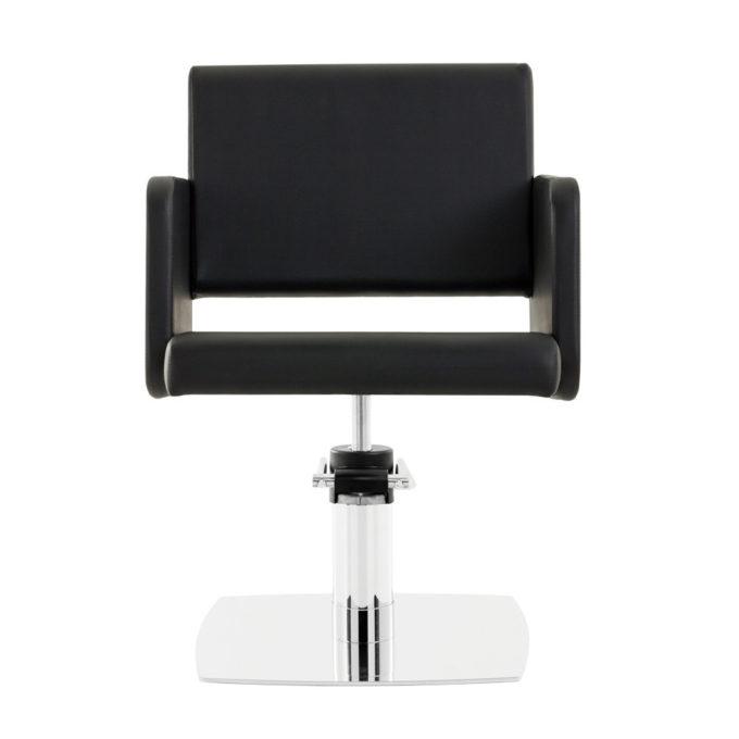 siège de coiffure noir avec pied carré