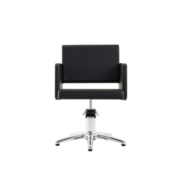 chaise de coiffure noir forme rectange avec pied étoile